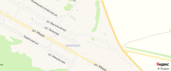 Улица Васильченко на карте Нового Оскола с номерами домов