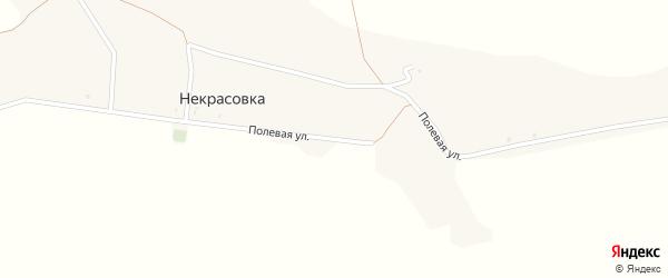 Полевая улица на карте поселка Некрасовки с номерами домов
