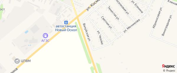 Валуйская улица на карте Нового Оскола с номерами домов