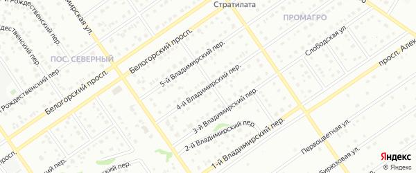 4-й Владимирский переулок на карте Старого Оскола с номерами домов