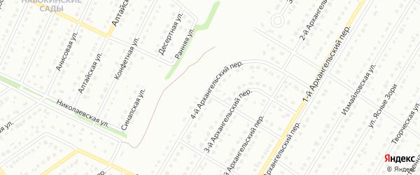4-й Архангельский переулок на карте Старого Оскола с номерами домов