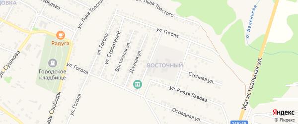 Молодежная улица на карте Нового Оскола с номерами домов