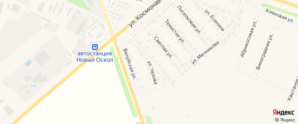 Улица Чехова на карте Нового Оскола с номерами домов