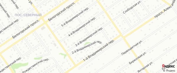 3-й Владимирский переулок на карте Старого Оскола с номерами домов