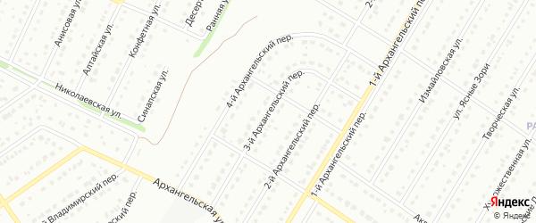 3-й Архангельский переулок на карте Старого Оскола с номерами домов