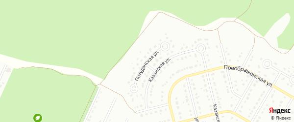 Потуданская улица на карте Старого Оскола с номерами домов
