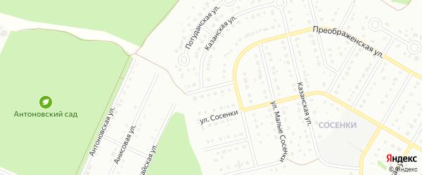2-й Преображенский переулок на карте Старого Оскола с номерами домов
