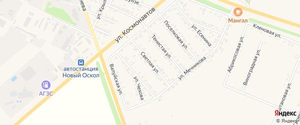 Светлая улица на карте Нового Оскола с номерами домов