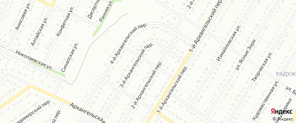5-й Архангельский переулок на карте Старого Оскола с номерами домов