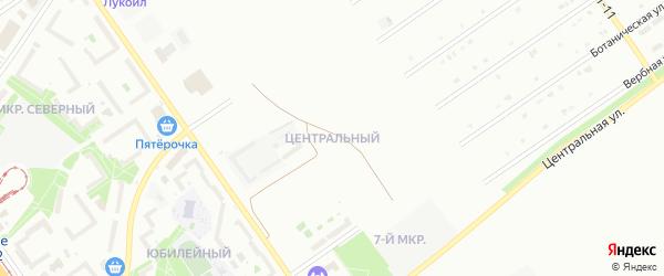 Центральный микрорайон на карте Старого Оскола с номерами домов