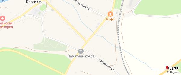 Железнодорожная улица на карте села Казачка с номерами домов