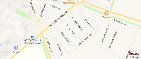 Тенистая улица на карте Нового Оскола с номерами домов