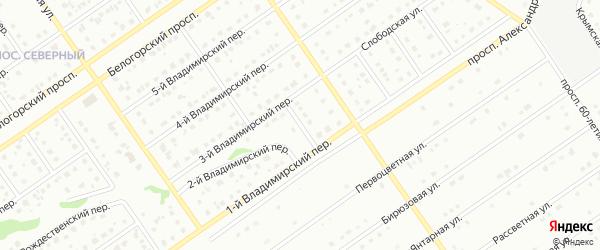 Короткий переулок на карте Старого Оскола с номерами домов