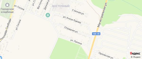 Отрадная улица на карте Нового Оскола с номерами домов