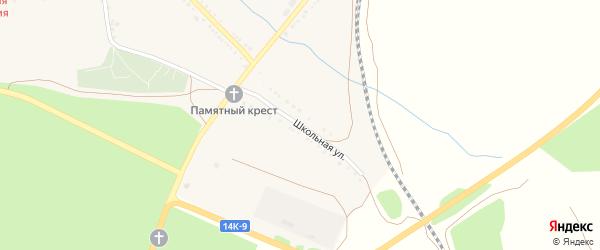 Школьная улица на карте села Казачка с номерами домов