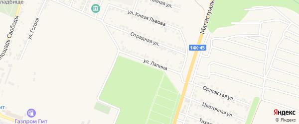 Улица Лапина на карте Нового Оскола с номерами домов