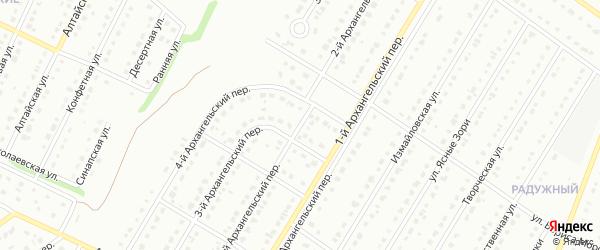 2-й Архангельский переулок на карте Старого Оскола с номерами домов