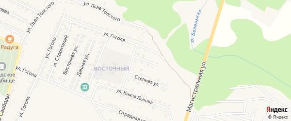 Улица Платонова на карте Нового Оскола с номерами домов