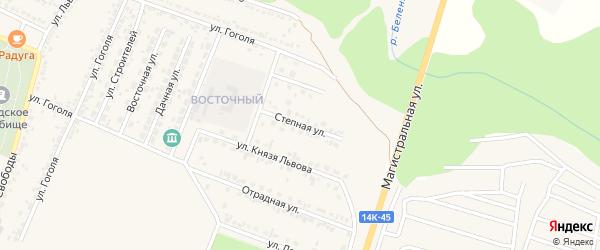 Степная улица на карте Нового Оскола с номерами домов