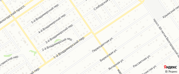 Проспект Александра Невского на карте Старого Оскола с номерами домов
