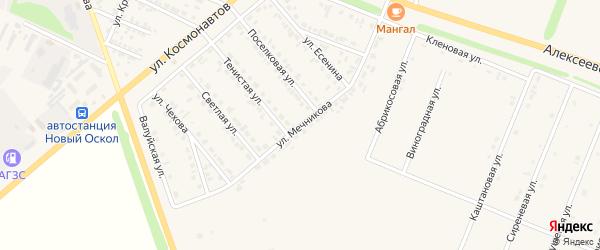 Улица Мечникова на карте Нового Оскола с номерами домов