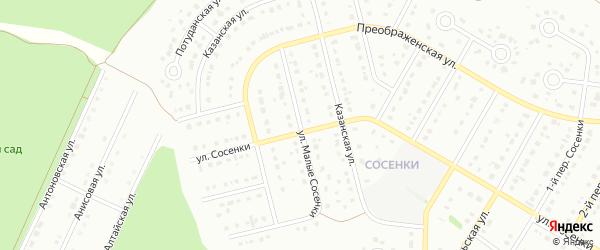 Улица Малые Сосенки на карте Старого Оскола с номерами домов