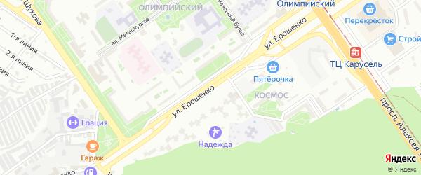 Улица Ерошенко на карте Старого Оскола с номерами домов