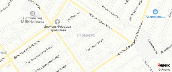 Посадская улица на карте Старого Оскола с номерами домов