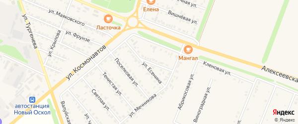 Улица Есенина на карте Нового Оскола с номерами домов