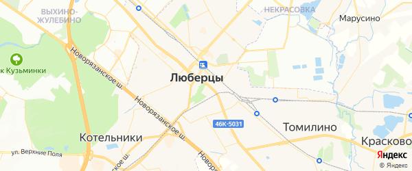 Карта Люберец с районами, улицами и номерами домов