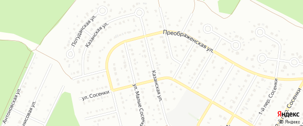 Казанская улица на карте Старого Оскола с номерами домов