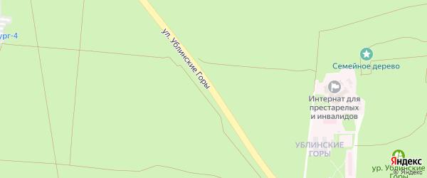 Улица Ублинские горы на карте Старого Оскола с номерами домов