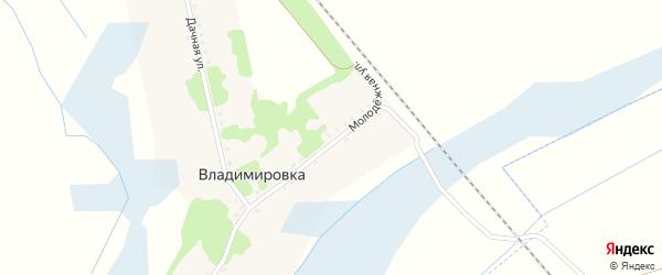 Дачная улица на карте хутора Владимировки с номерами домов