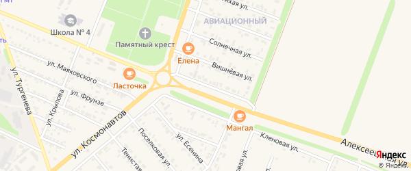 Алексеевская улица на карте Нового Оскола с номерами домов