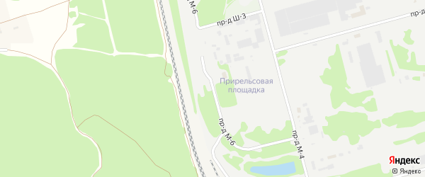 Площадка Прирельсовая проезд М-6 на карте станции Котла промузла с номерами домов