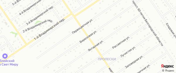 Бирюзовая улица на карте Старого Оскола с номерами домов