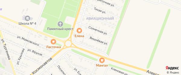 Вишневая улица на карте Нового Оскола с номерами домов