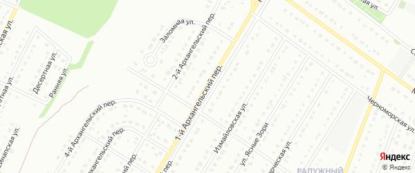 1-й Архангельский переулок на карте Старого Оскола с номерами домов