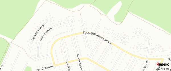 3-й Преображенский переулок на карте Старого Оскола с номерами домов