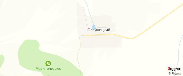 Карта Олейницкого хутора в Белгородской области с улицами и номерами домов