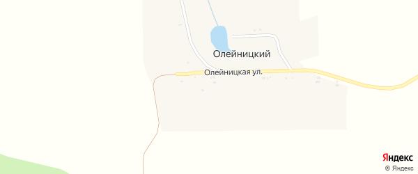 Олейницкая улица на карте Олейницкого хутора с номерами домов