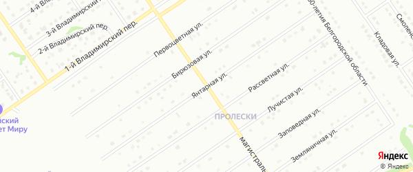 Янтарная улица на карте Старого Оскола с номерами домов