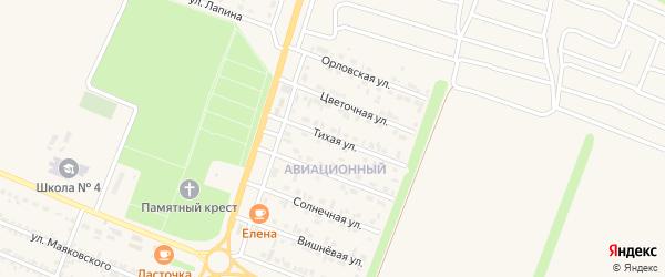 Тихая улица на карте Нового Оскола с номерами домов