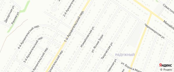 Измайловская улица на карте Старого Оскола с номерами домов