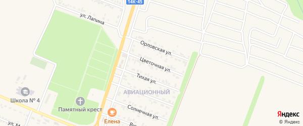 Цветочная улица на карте Нового Оскола с номерами домов