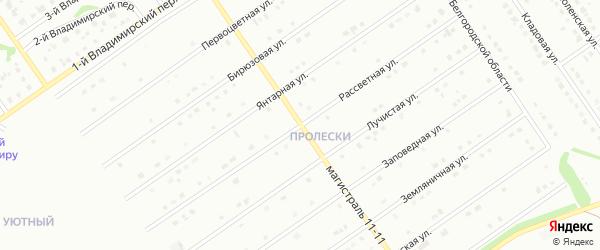 Рассветная улица на карте Старого Оскола с номерами домов