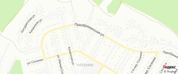 4-й Преображенский переулок на карте Старого Оскола с номерами домов