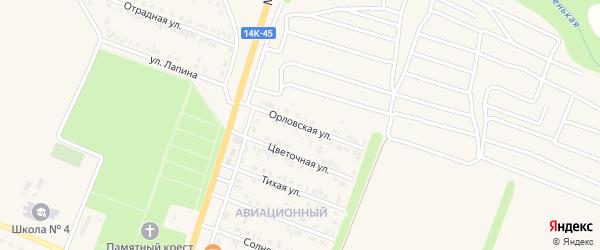 Орловская улица на карте Нового Оскола с номерами домов