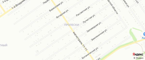 Лучистая улица на карте Старого Оскола с номерами домов