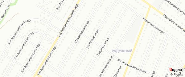 Улица Ясные Зори на карте Старого Оскола с номерами домов